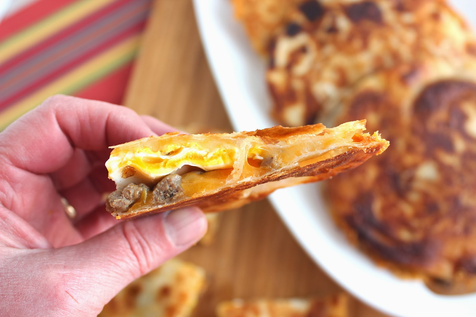 Kudos Kitchen By Renee: Fast and Easy Sausage and Egg Quesadillas