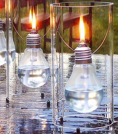 Even after the fuse burns out, light bulbs can still serve a multitude of purposes. Check out these bright ideas on ways to reuse old light bulbs and up-cycle them into fun and elegant home decor. Grab a few extra craft supplies for your DIY light bulb projects and save with a Michaels coupon or Home Depot promo codes. 1. Twine Pears Centerpieces.