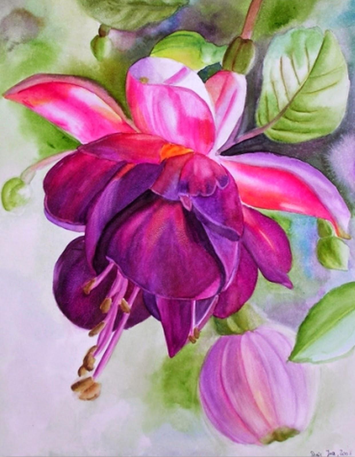 Cuadros pinturas oleos cuadros con flores pintados con - Cuadros pintados con spray ...
