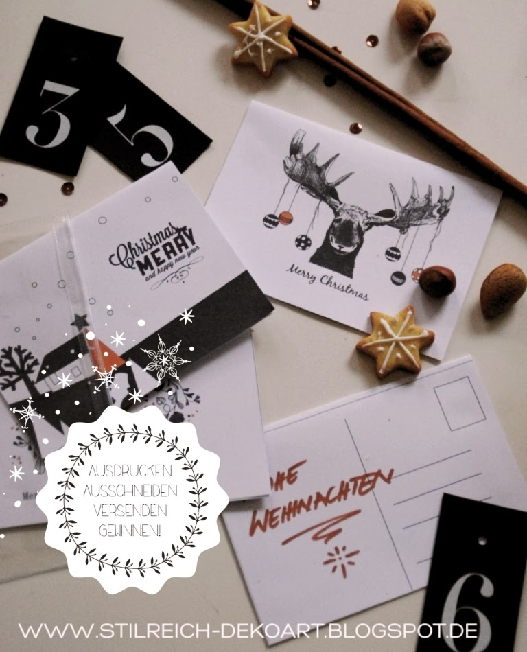 Grosse adventsverlosung bei stilreich postkarten freebie - Stilreich blog ...