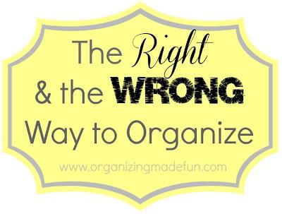 clutter organize organization organized