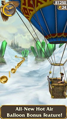 Temple Run OZ game endless run karya Imangi Studios dengan Disney untuk Android dan iOS