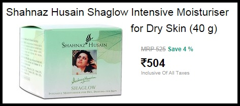 Shahnaz Husain Shaglow Intensive Moisturiser For Dry Skin (40 g) For Rs.504 Only.