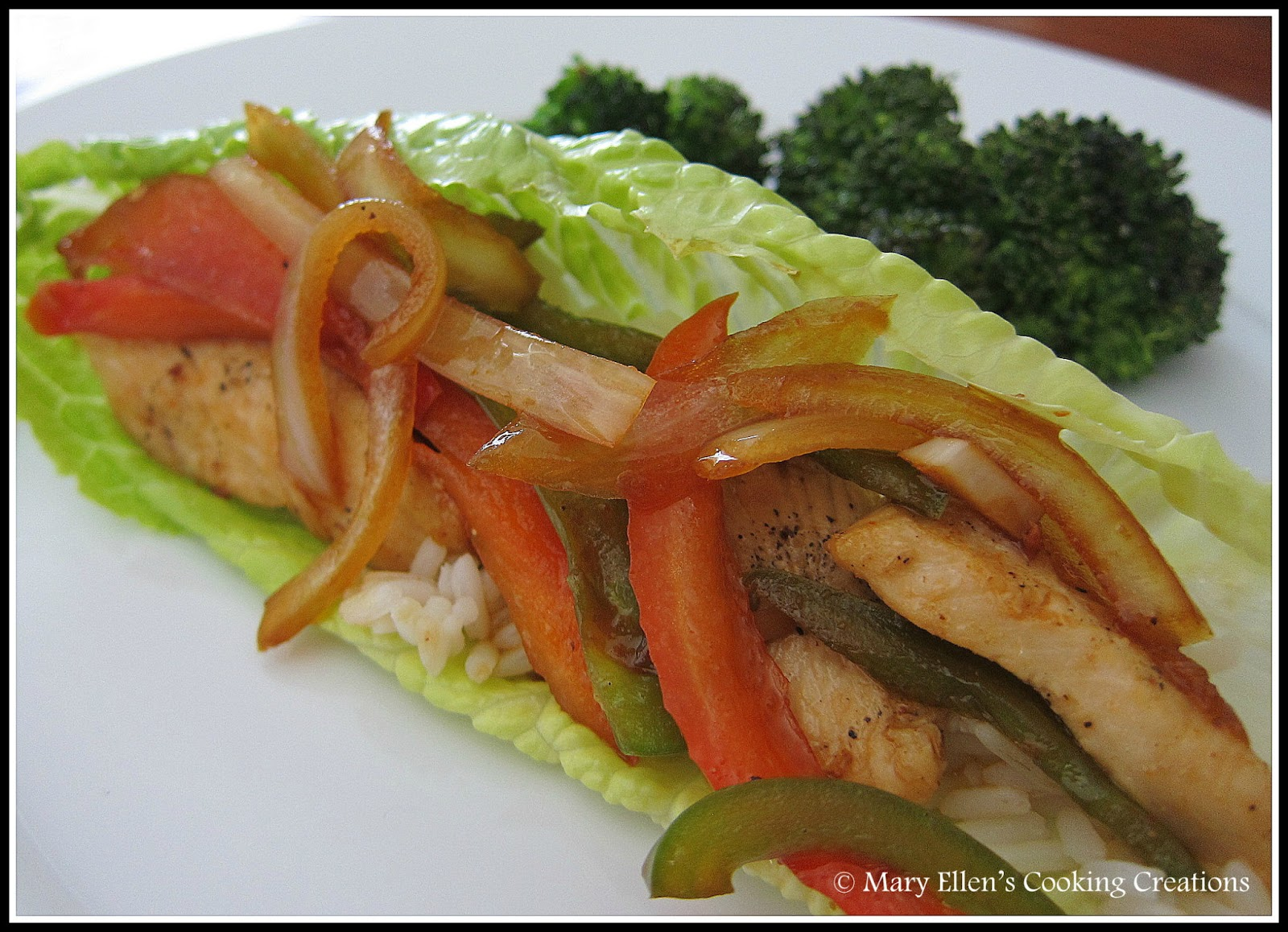Mary Ellen's Cooking Creations: Chicken Stir-Fry Lettuce Wraps