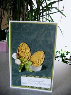 Kartki - jajeczka floral