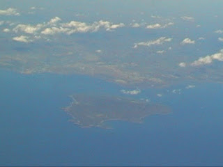 Queensland and the Great Barrier Reef view from flight Cairns  Brisbane Australia