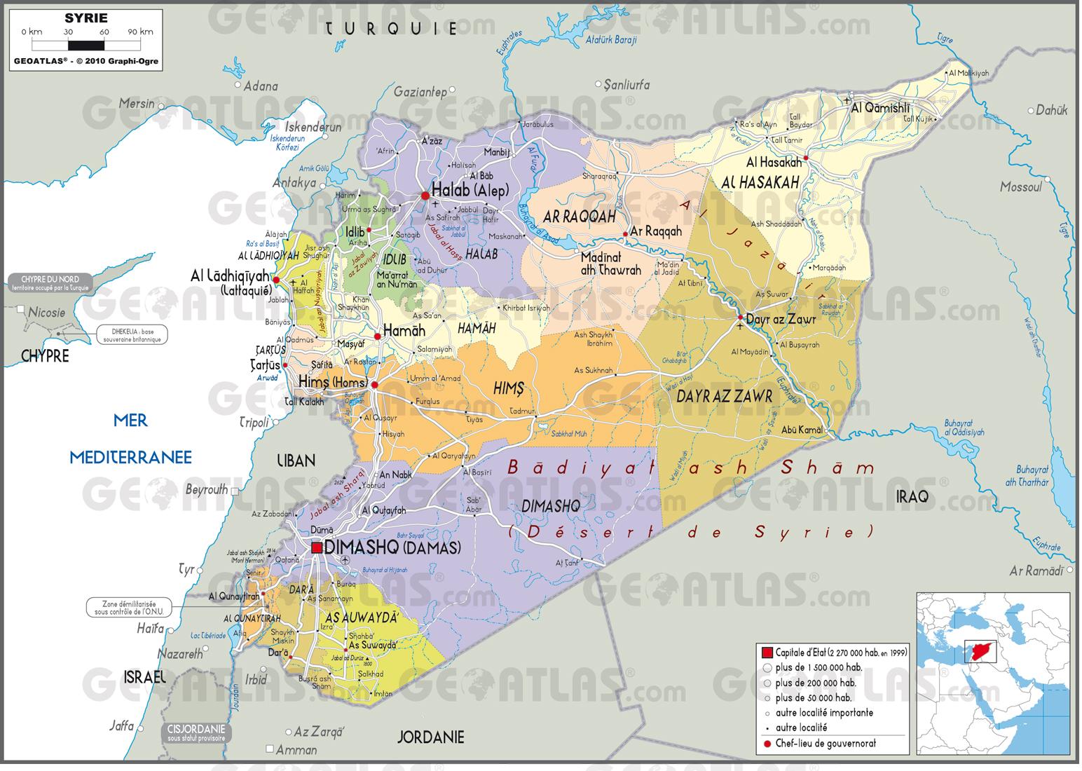 Le Monde Syrie Carte