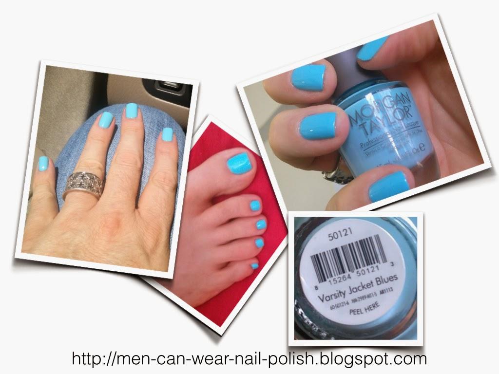 Men can wear nail polish: 2014