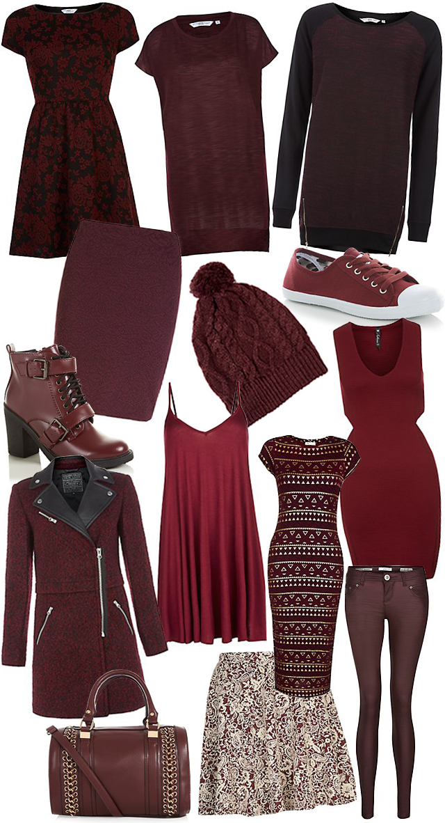 New Look Oxblood and Burgundy Wishlist