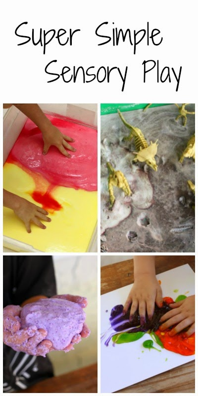 4 super simple sensory play recipes you can make right now!