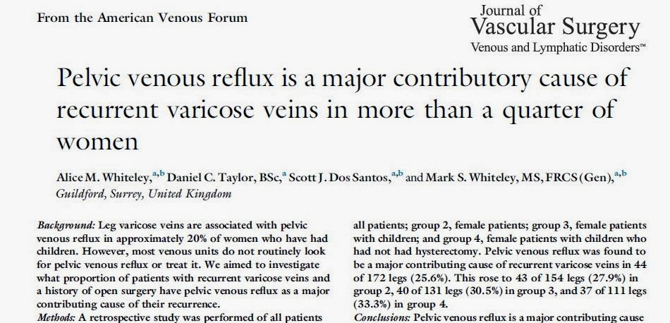 Alice Whiteley Recurrent Varicose Veins due to Missed Pelvic Varicose Veins - Whiteley Clinic Research