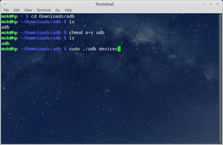 Linux Mint Terminal - adb tool installation