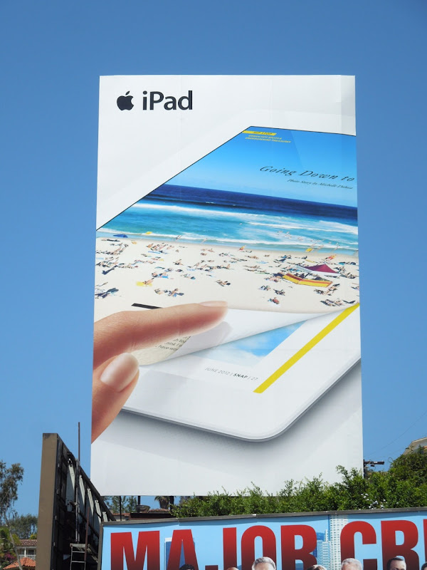 Giant iPad3 billboard Sunset Boulevard