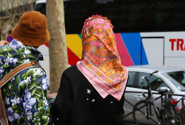pink headscarf