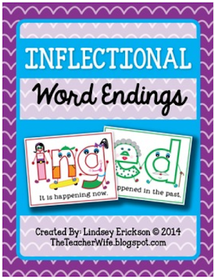 https://www.teacherspayteachers.com/Product/Inflectional-Word-Endings-Unit-ed-ing-123498