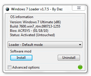 Windows 7 loader, win 7 loader,aktivasi windows 7,win 7 activator