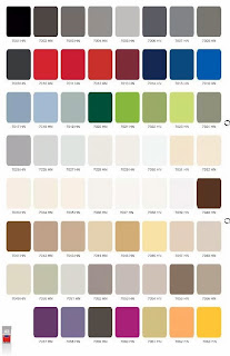Testur HPL motif solid warna