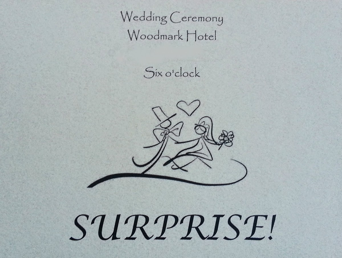 Woodmark Hotel hosts Surprise wedding - Kent Buttars & Patricia Stimac, Seattle Wedding Officiants