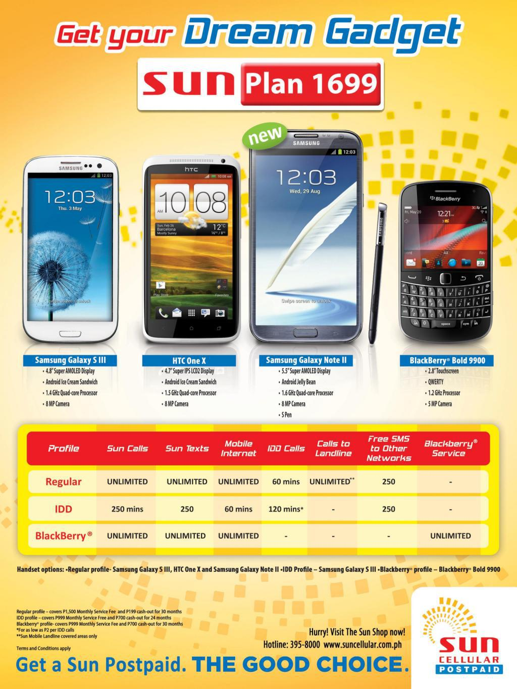 techoverdose sun postpaid promo january 2013