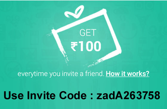 Install snapdeal app and get Rs.100 freecharge credits