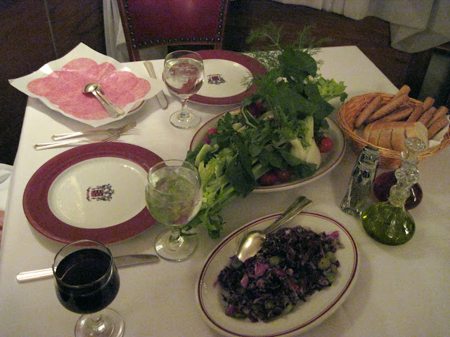 Monogramed plates await you when you're dining in New York at Marchi's Restaurant
