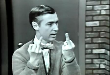 Mister Rogers doing the Thumbkin song