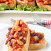 beans, tomato and raisins bruschetta