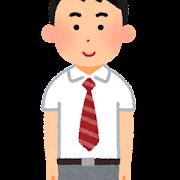 ブレザーを着た男子学生のイラスト(夏服・学生服)