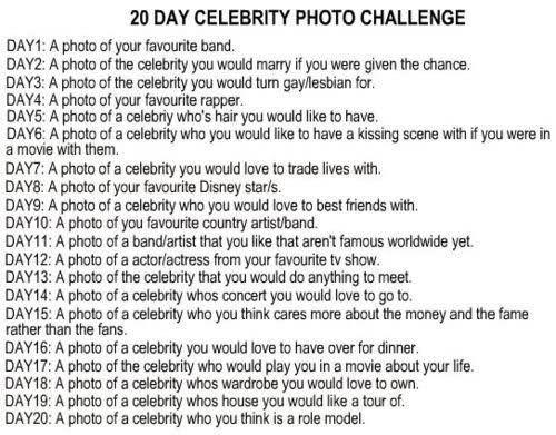 20 day celebrity challenge tumblr