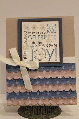 Season of Joy, Stampin' Up, Christmas card
