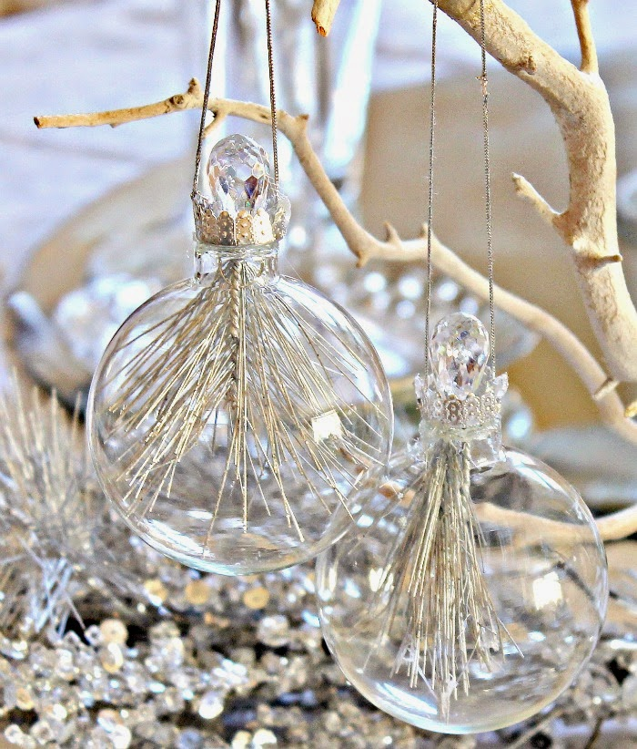 Create a Glass Filled ornament at One More Time Events.com