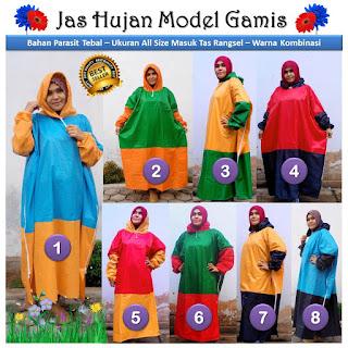 Jas Hujan Wanita Muslimah