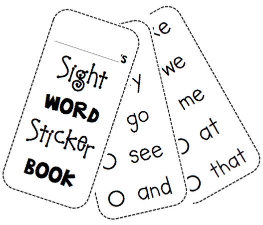Dramatic image with sight word book printable