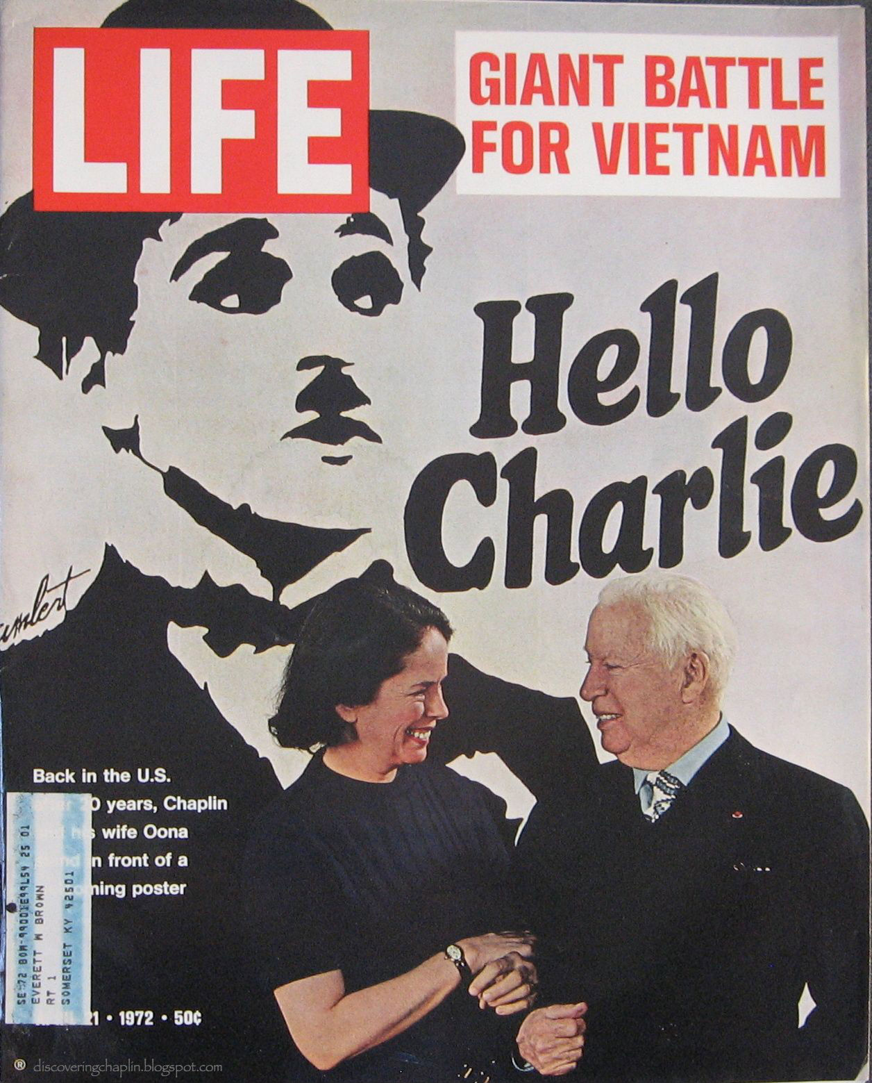 Discovering chaplin cover of life magazine april 21st 1972 cover of life magazine april 21st 1972 sciox Choice Image