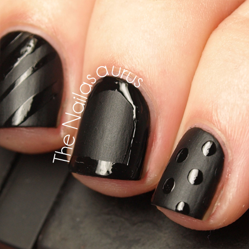 Black On Black The Nailasaurus Uk Nail Art Blog