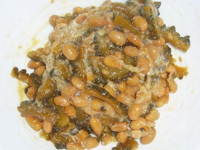 納豆にゴーヤの佃煮