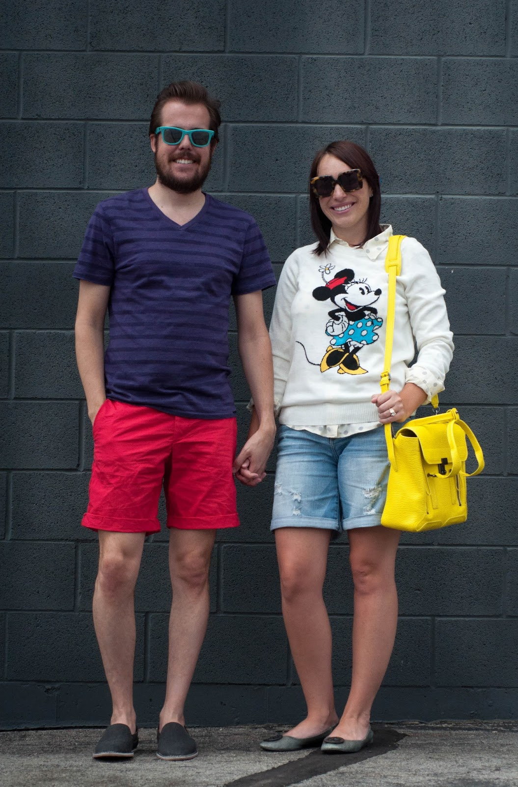 ootd, couples fashion, couples style, fashion blog, style blog, 3.1 phillip lim, minnie mouse pullover