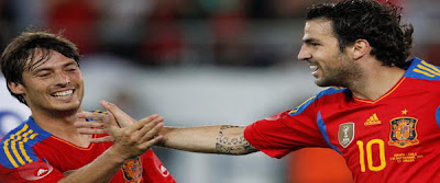 Fabregas equaliser of the match group stage of Euro-2012 against Italy. Transfer was noted midfielder David Silva