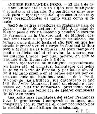 La Vanguardia, fallecimiento de Andrés Fernández Pozo en 1912