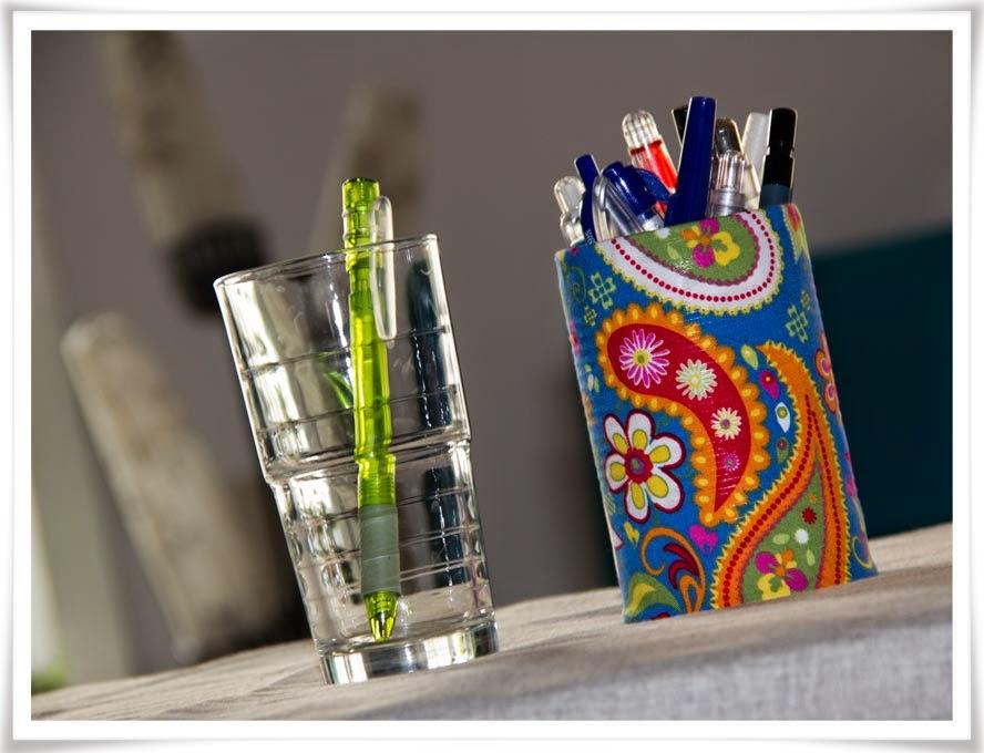 Pennor flyttade från glas till pennburk