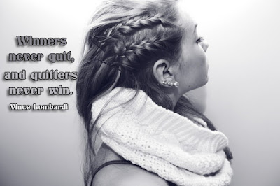 facebook Poste image quotes (Winners never quit and quitters never win.)