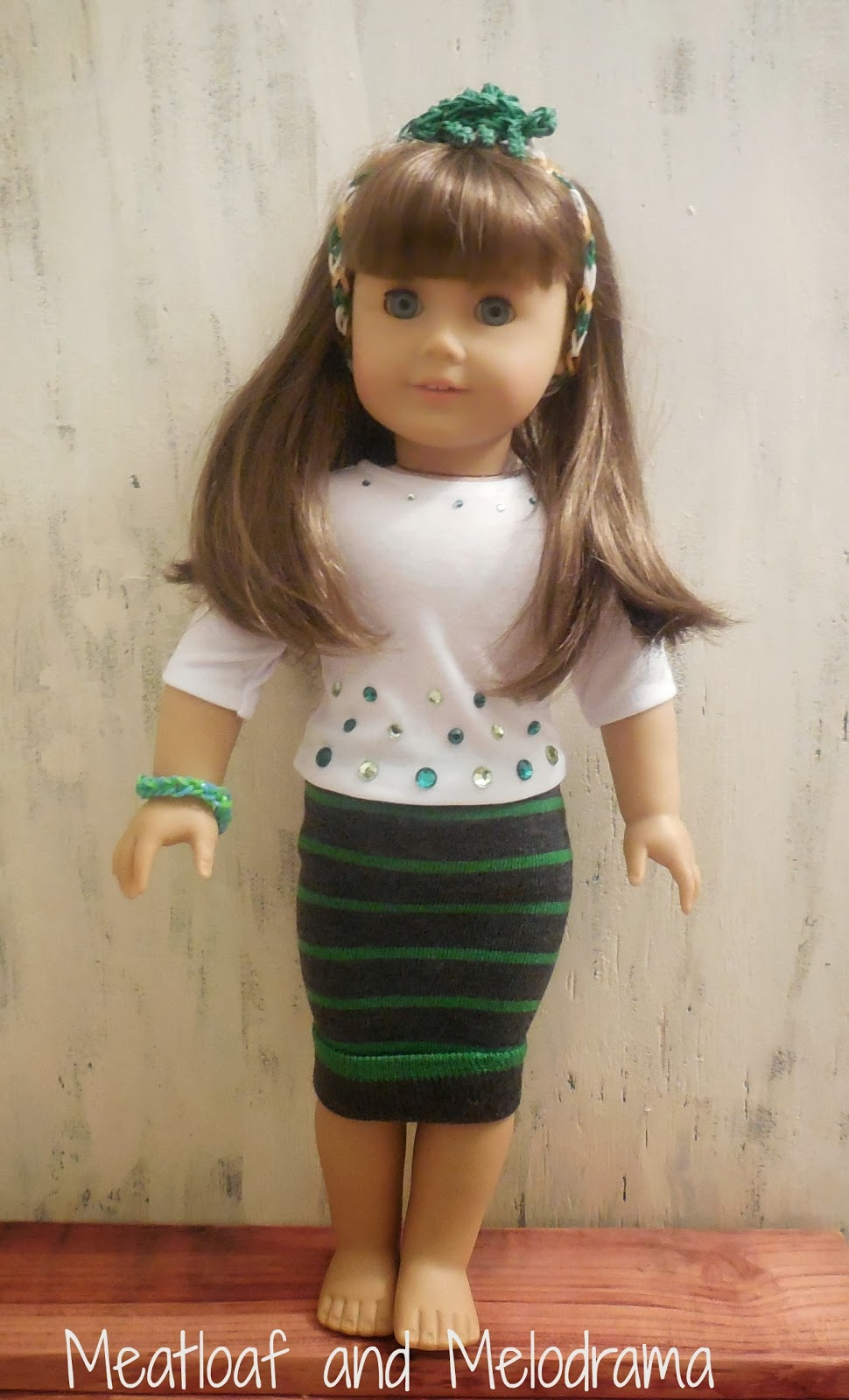 American girl doll no sew sock clothes