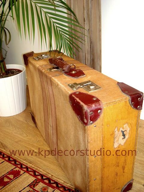 Cajas-baúles-maletas antiguas vintage estilo retro. Decoración nórdica