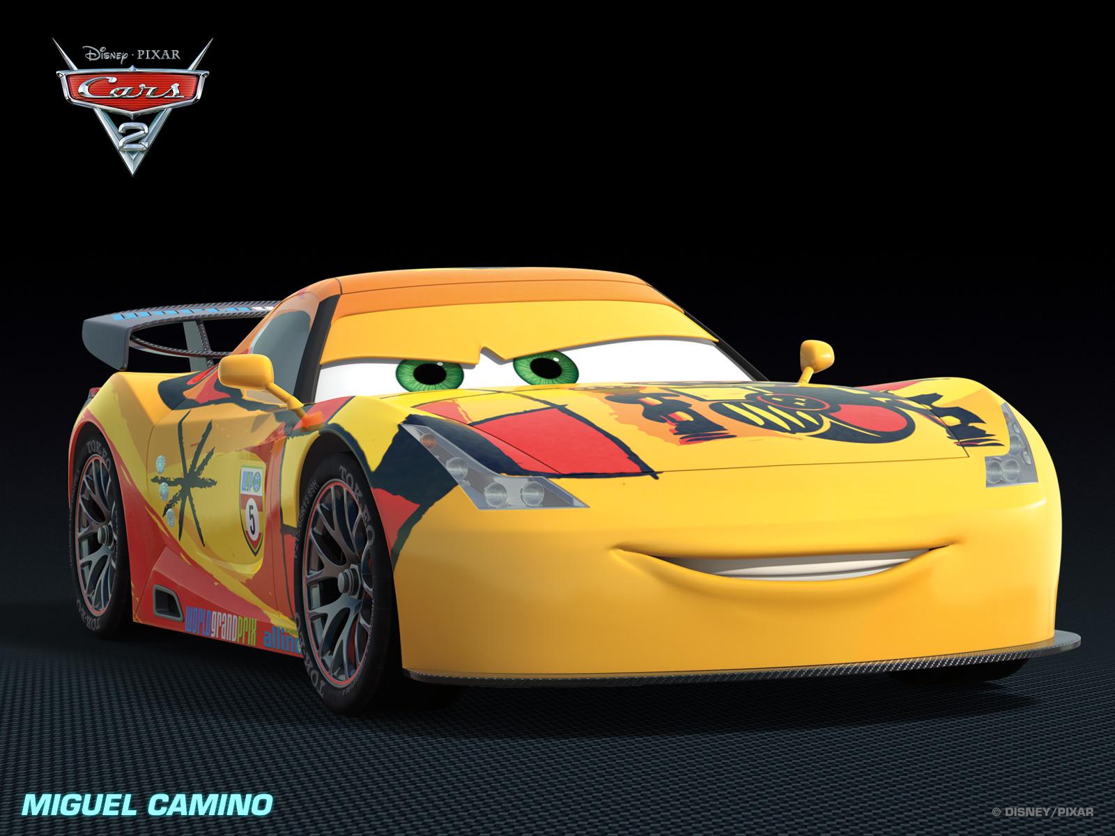 Personaje miguel camino cortos disney pixar cars