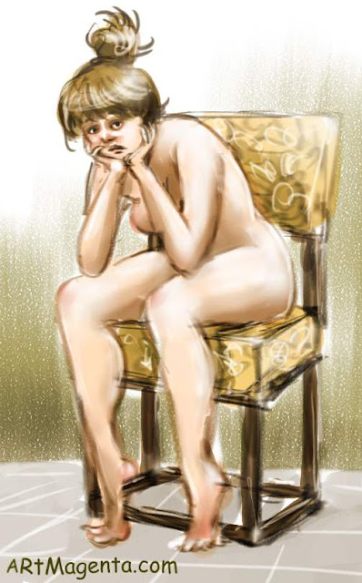 The Farthingale chair is a figure drawing by artist and illustrator Artmagenta