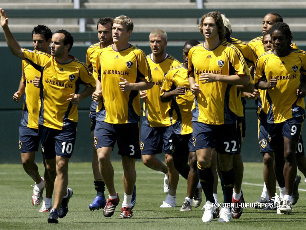 david beckham training in la galaxy
