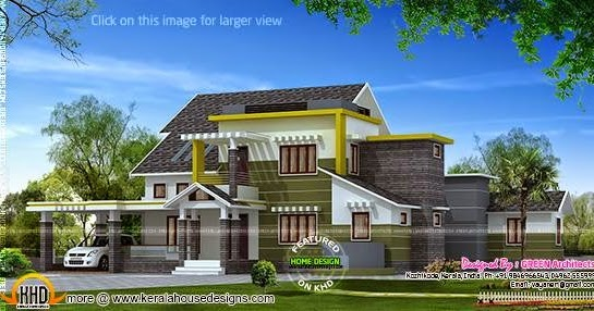 4 bhk contemporary house kerala home design and floor plans for 4 bhk house plans kerala