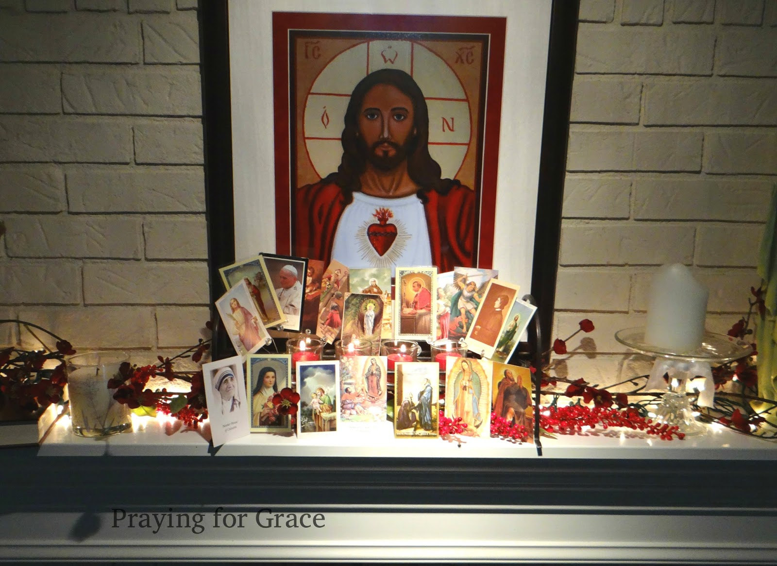 Praying for grace happy all saints day on all saints day we use all our holy cards i use these all year with each months saints only but for all saints day we pretty much just use our m4hsunfo