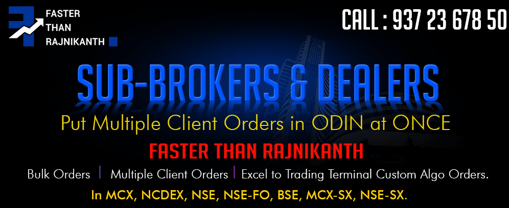 Bulkorders in NSE, NSE-FO, MCX, NCDEX, NSE-SX, MCX-SX.