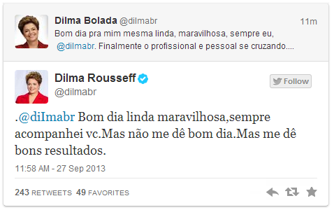 Dilma Rousseff no twitter - 478x300